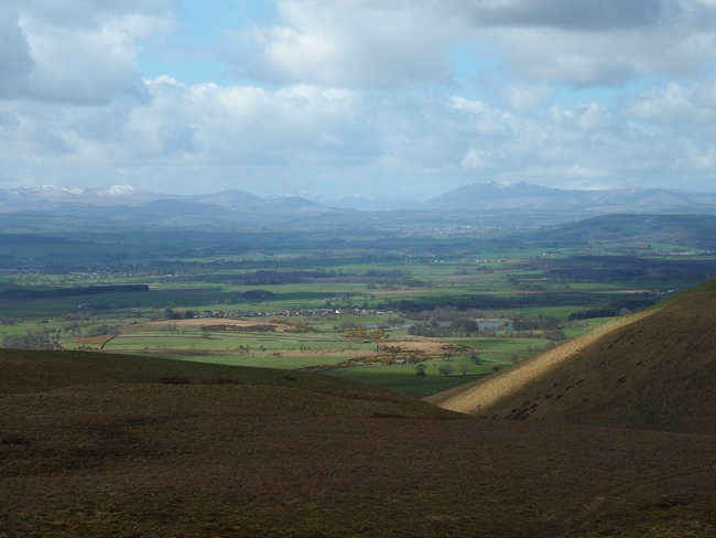 Blencarn and the Lake District fells from below Wildboar Scar