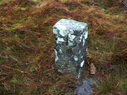 One of a number of small boundary stones that I passed