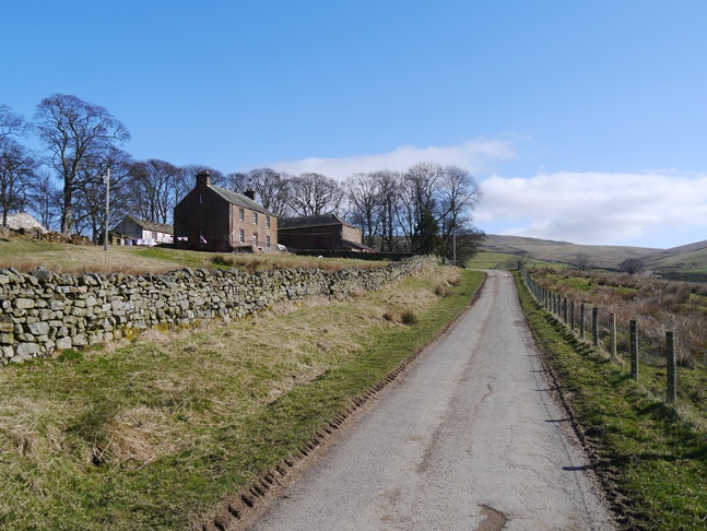 Passing Bow Hall along the Pennine Way