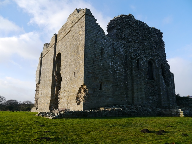 The remains of Bowes Castle