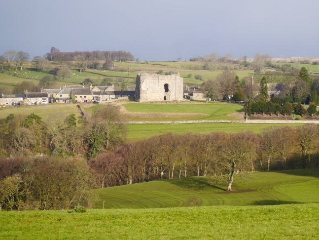 A close up of Bowes Castle from near West Plantation