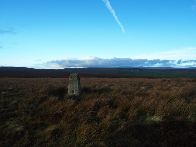 The trig point on Collinson's Hill