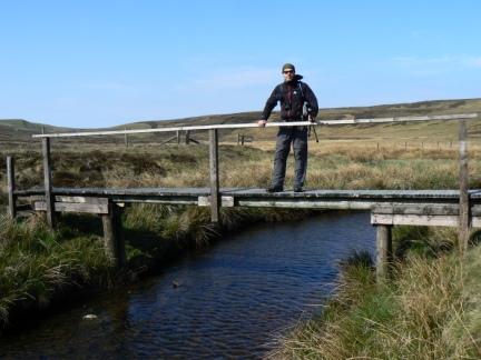 Matt on the bridge over Connypot Beck