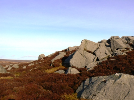 Crags by the shooting house on Monk's Moor