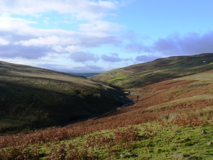 Looking west along the Croglin valley
