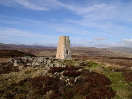 The trig point on Cronkley Fell