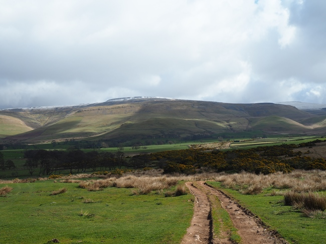 Cross Fell from the bridleway leaving Blencarn