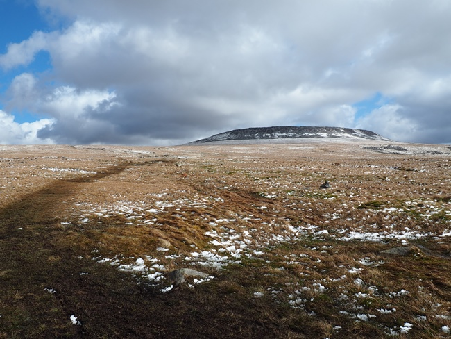 Looking back at the top of Cross Fell from Ironwell Band