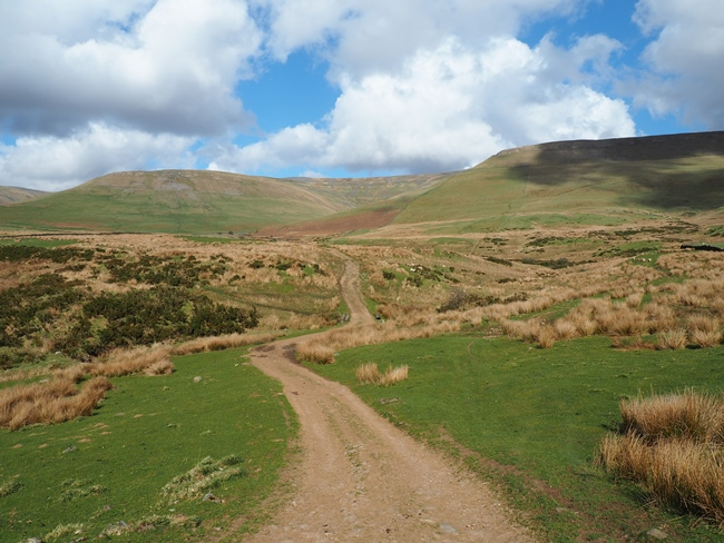 Cross Fell from the bridleway before it enters Kirkland