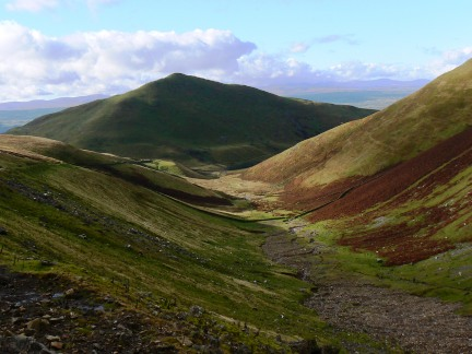 Looking back along Great Rundale to Dufton Pike