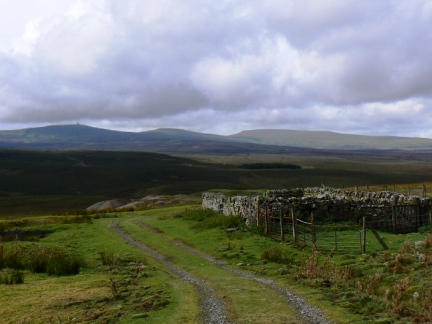Cross Fell and the two Dun Fells from Upper Teesdale