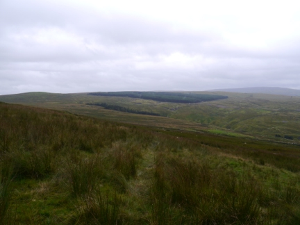 Looking back at Flinty Fell from the descent off Alston Moor