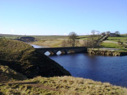 The western end of Grassholme Reservoir