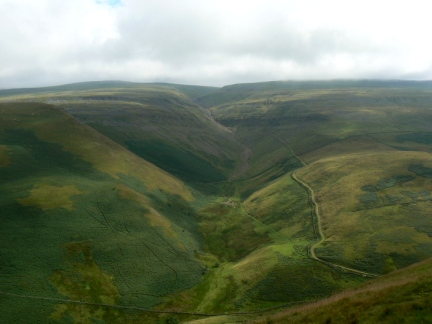 Looking down to Great Rundale from Dufton Pike