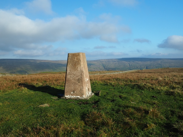 The trig point on Hardberry Hill