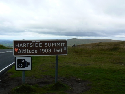 The summit of the A686 between Penrith and Alston
