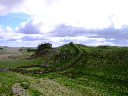 Looking back to Housesteads Crags from Cuddy's Crags