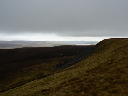 On Iron Band looking along West Dow Crag