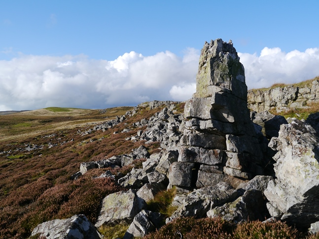 A seven foot high pinnacle on Johnson Scar