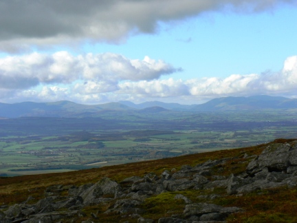 Lakeland skyline from Knock Fell