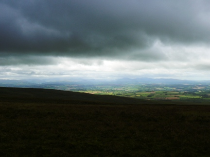 Looking across the Eden Valley to the Lake District