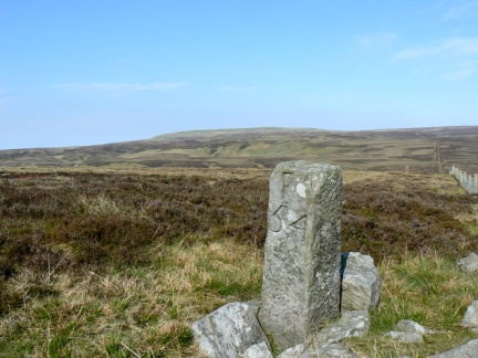 Little Fell and boundary stone number 54