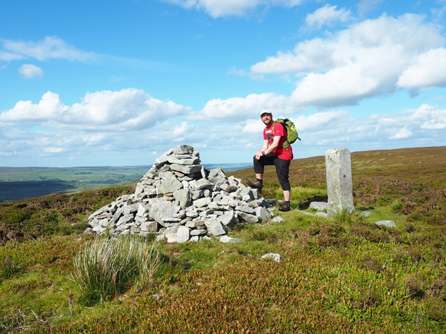 By the currick and boundary stone on Long Man