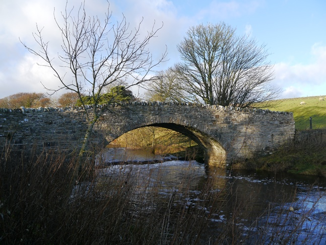 The lovely bridge across the River Greta by East Mellwaters