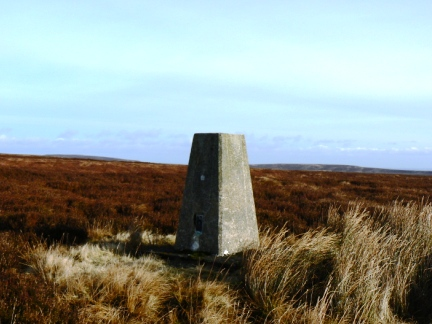 The trig point on Monk's Moor