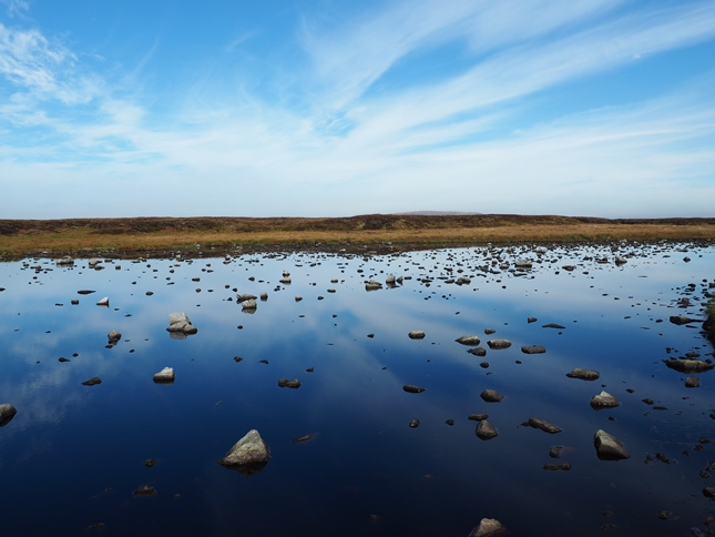 A lovely stone-filled tarn to the south of the summit of Murton Fell