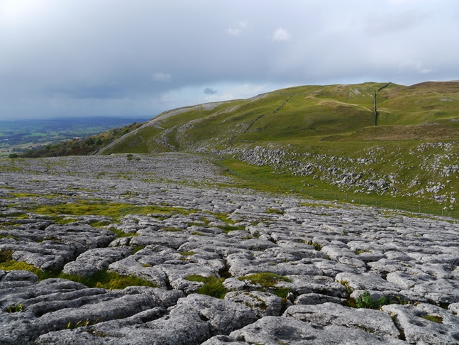 The superb limestone pavement to the west of Mount Ida backed by Musgrave Scar