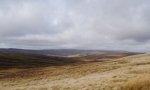 The view north from the Pennine Way just below Long Man Hill