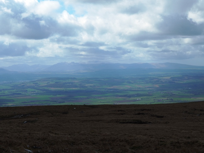 The view across the Eden valley towards the Lake District's northern fells