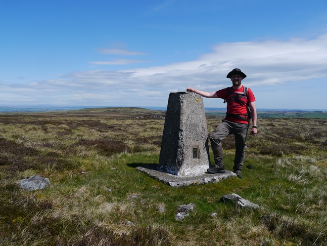 By the trig point on Brownley Hill - my final North Pennines Dewey