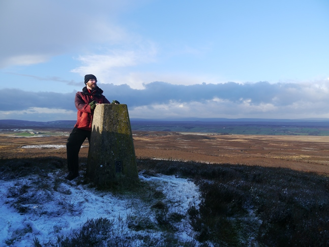 By the trig point on Citron Seat