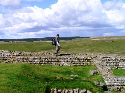 On the wall at Housesteads