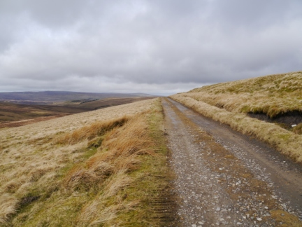 The Pennine Way as it passes below the top of Long Man Hill