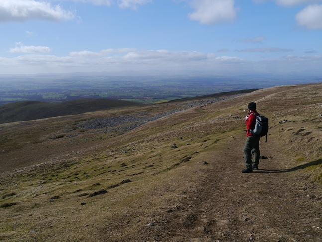 Gaining height on the Pennine Way
