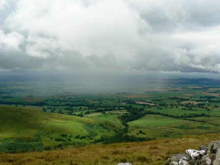 Rain shower over the Eden valley
