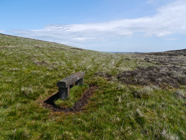 Some random benches, presumably for grouse shooting, below Brownley Hill