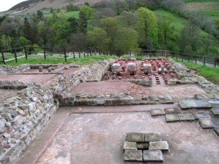 The Roman baths at Vindolanda