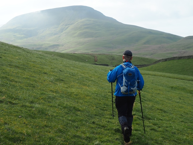 Paul heading towards Roman Fell