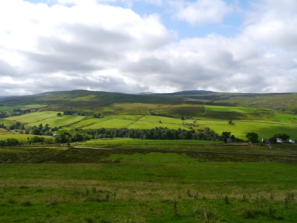 Looking across South Tynedale to Round Hill and Cross Fell