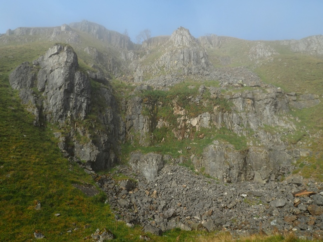 As we climbed out of Scordale we were suddenly rewarded with views of the crags