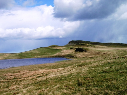Sewingshields Crags and Broomlee Lough