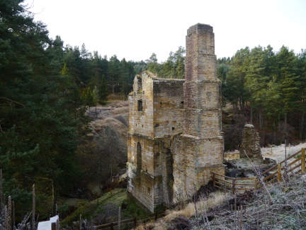 The ruins of a smelt mill above Shildon Burn