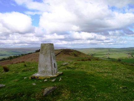 The trig point on Barcombe Hill