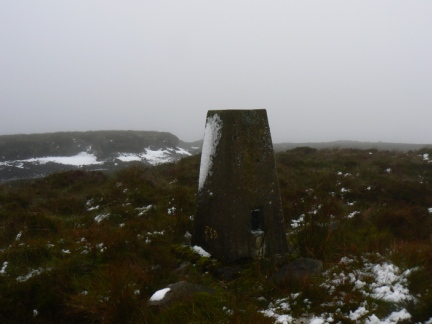The trig point on Blotting Raise