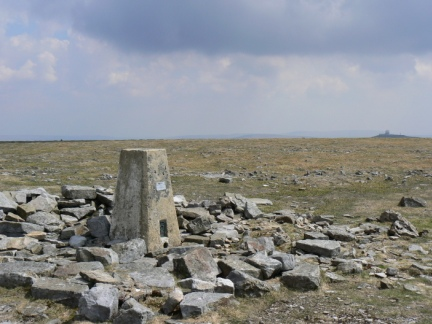 The top of Cross Fell, the highest point in the Pennines