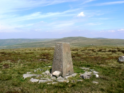 The trig point on Fiend's Fell